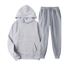 Men's Tracksuits Solid Color Casual Hoodies + Fitness Pants Sets Men Women Autumn Winter Warm Sweatpants Tracksuit Joggers Sportswear Pantsu