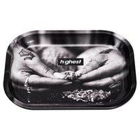 TinPlance Fumar Rolling Bandeja Estuche Almacenamiento Tabaco Dry Herb 140mm * 180mm Portátil Portátil Tenedor de cigarrillos