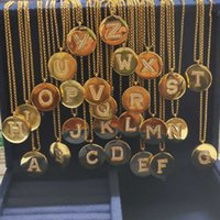 UMGODLY Luxury Fashion Solid Copper Letter A B C D 26 Alphabet Initial Name Round Adjustable Necklace Women Jewelry