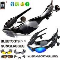 Gözlük Kulaklık Bisiklet Güneş Gözlüğü Bluetooth Kulaklık Akıllı Gözlük Açık Spor Kablosuz Bisiklet Güneş Mic ile