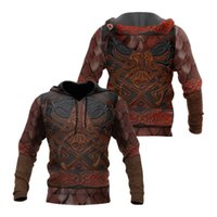 Men's Hoodies & Sweatshirts Product Autumn Hoodie Viking Warrior Armor 3D Printing Unisex Pullover Zipper Casual And Fashionable Sportswear