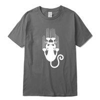 Xinyi t-shirt أعلى جودة القطن مضحك القط الإبداعي طباعة قصيرة الأكمام الرجال تي شيرت عارضة الكبير الانفجار نظرية رجل tshirtsoccer جيرسي
