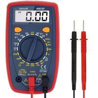Digital multimeter med OHM Volt Amp och diodspännings testermätare Kontinuitetstest (Dual Fused för Anti-Burn)