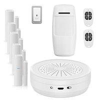 أنظمة الإنذار Tuya Smart WiFi Door Sensor فتح / مغلق للكشف عن المنزل متوافق مع Alexa Google App Alarms