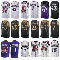 Kyle 7 Lowry Jerseys de basquete Vince 15 Carter Tracy 1 McGrady City TorontoraptoresPascal 43 Siakam Fred 23 Vanvleet Retro Jersey