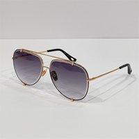 Brand Designer Sunglass For Men Luxury Vintage Retro Glasses Fashion Gold Frame Style Summer Sunglasses High Quality Pilot Shape UV 400 23007