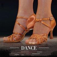 الرقص shoeslatin الرقص امرأة الكبار لينة bodem priem عالية hak salsa ساحة bd اللاتينية الحقيقي 2360-b الساتان المستوردة