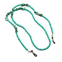 Nova Moda Turquesa Óculos Cadeia Plástico Frisado Espetáculo Link Green Sunglasses Chain 75cm 12 pçs / lote Atacado 1137 Q2