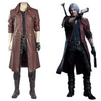 Game DMC 5 Cosplay Dante Cosplay Costume Outfit Full Suit Coat For Adult Men Women Halloween Carnival Costume Dante Boots G0913