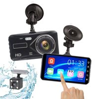 "G-sensor Recorder Car DVR Dash Cam Video Dual Lens Full HD 1080P 4"" IPS Vehicle Camera Front+Rear Night Vision DVRs"