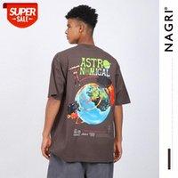 Nagri Men's quinto Travis Scott Fortnite Perifheral Rap Hip Hop Ins camiseta # 2k5t