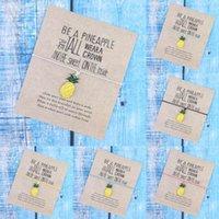 Charm Bracelets Make A Pineapple Be Bracelet Fruit Handmade Rope For Women Men Friendship Summer Jewelry