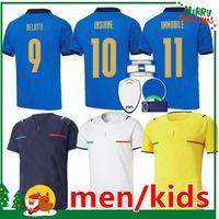 Italien 2021 Fussball Jersey Home Away Jorginho El Shaarawy Bonucci Insignente Bernardeschi Italia Erwachsene Männer + Kinder Kit Fußball Hemden