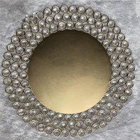 Titulares de vela vendendo design criativo de prata metal cristal frisado pratos carregador placas ab0036