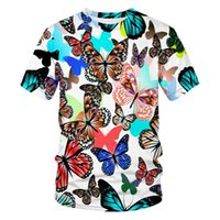 Men's T-Shirts 2021 Summer Short-Sleeved T-Shirt 3D Printing Butterfly Picture Round Neck Pullover And Casual Streetwear Fashion