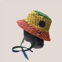 Klasik Mektup Çift Balıkçı Şapka Erkekler Kadınlar Renkli Caps Lace Up Düğümlü Şapkalar Unisex Ball Cap etiketleri
