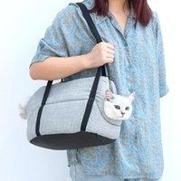 Forniture per animali domestici portatore per escursioni all'aperto Escursionismo Classico Comfort Viaggio Accogliente Borsa da borsetta gatto morbida Borsa da borsetta, casse