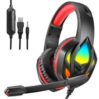 Headphones H100 Surround Sound Stereo Wired Earphones USB Microphone Noise Cancelling Gaming Headset For PC Computer Gamer Laptop PS4 New X-BOX