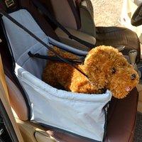 ! Lindo assento de carro de estimação seguro viagens transportadoras saco tapetes de cachorro colorido para proteção de segurança 40 * 30 * 25 cm canais canais