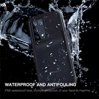 IP68 Waterproof Clear Lanyard Strap Cover for Samsung S21 Ultra Dropproof Outdoor Sports All Sealed Hybrid Rugged Armor Transparent Phone Case Antifouling