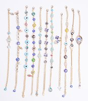 Factory handmade Wholesale Gifts Turkish evil blue eye Nazar Beads Alloy Golden Bracelets and Bangles