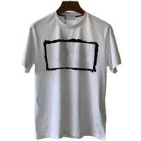 CPTOPSTONEY 2021 여름 코튼 남성용 티셔츠 인쇄 편지 교정 크루 넥 짧은 소매 연인 캐주얼 보트