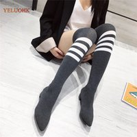 Autumn Women's Boots Over The Knee Boots Women Sock Ladies Winter Shoes for Women 34-39