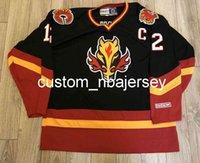 Вышивка Vintage CCM Calgary Flames Jeroome Iginla Blase Horse Hockey Jersey Custom Men Hockey Jersey Добавьте любой номер имени