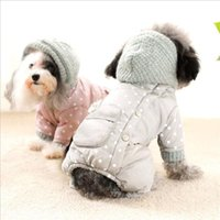 Dog Apparel Pet Clothes Winter Warm Coat Jumpsuit Hoodie Thicken Clothing Outerwear Jacket Products For Puppy