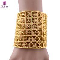Braccialetto di lusso Dubai largo braccialetto per le donne color oro colore africano india gioielli da sposa bridal banchetto regali