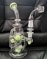 10inch Windmill Wheel Glass Bong Hookah Recycler Oil Rig Water pipes Glass Oil Burner With Quartz Banger Or Glass Bowl sestshophot sell