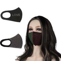 Máscara de moda ciclo preto máscara com broca gelo seda de algodão verão respirável sunscreen máscara adulto festa decoração máscara protetora