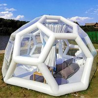 Tents And Shelters 3/4/5m Football Structure Inflatable Bubble Lodge Tent El Room Large Luxury Igloo Dome Casa De Campaña,Inflatable Garden