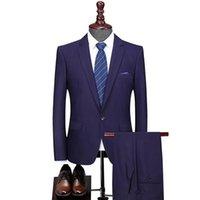 Men's Suits & Blazers 2021 Panels Fine Suit Men Vented Business Suit, Cultivate One's Morality Dress Professional Wedding Two Pieces