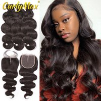 Human Hair Bulks CurlyMax Body Wave Brazilian Weave 3 4 Bundles With 4x4 5x5 Closure And Lace Weaves
