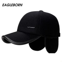 EAGLEBORN Brand New 2020 High Quality Baseball Cap Winter Hat Fashion Hats & Caps Men Thick warm earmuffs Snapback Winter Cap