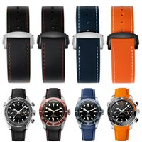 Watch Bands Curve End Silicone Watchband For OMG Speedmaster Men Sport Wristband Waterproof 20mm 22mm With Folding Buckle Rubber Strap