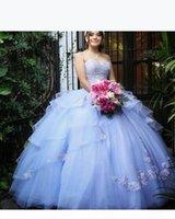 민트 그린 달콤한 16 년 레이스 Applique Quinceanera Dresses 2019 Vestido Debutante 15 Anos 공 가운 숄더 댄스 파티 드레스