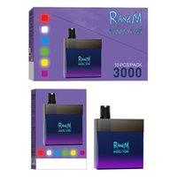 FUMOT 3000puffs RandM Dazzle King Disposable E cigarette RM Vape 12 Colors RGB Light Glowing