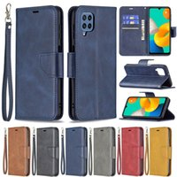 BF Retro PU Leather Wallet Credit Card Slot Cases With Wrist Free Strap For Samsung S20 S21 FE A02 A12 A32 4G 5G A42 A52 A72 A22 A82 A03S M32 A02S A21S A21 A31 A51 A71 A13 A52S