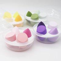 Sponges, Applicators & Cotton 4 3pcs bag Fashion Make Up Blender Cosmetic Puff Makeup Sponge Foundation Powder Beauty Tool Accessories