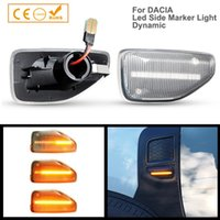 Emergency Lights 2Pcs LED Dynamic Turn Signal Side Marker Light For Dacia Logan II Shndero Duster Amber Indicator Lamp