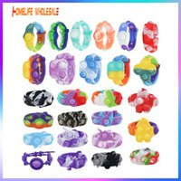 Push Bubble Band Fidget Toy Kids Party Hallowmas Bracelet Gift Sensory Dimple Toys Child Squeeze Bauble Office Workers Stress Relieving Antistress Decompression