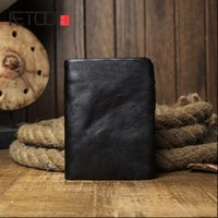 AETOO Mens short leather wallet, casual zipper personalized soft simple wallet