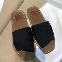 2021 النساء الصنادل luxurys المصممين النعال سيدة الوجه يتخبط خشبي بغل مسطح الشرائح مع مربع الغبار حقيبة الصيف fahsion في الهواء الطلق منصة الأحذية