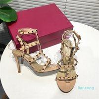 Luxus Frauen Designer Sandalen Rockstock Kalbsleder Leder High Heels Sommer Strappy Gladiator Sandalias Dame Kleid Party Barfuß Hochzeit