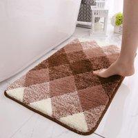 Подушка / декоративная подушка впитывающая подушка, флодирующий дверной мат Открытый крытый коврик для спальни гостиной кухня ванная комната вход противоскользящий ковер