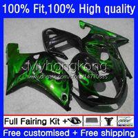 Motorcycle Body For SUZUKI GSXR 1000CC 1000 CC Injection Mold Bodywork 24No.139 GSXR-1000 00-02 GSXR1000 K2 00 01 02 GSX-R1000 Green flames 2000 2001 2002 OEM Fairing