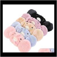 حزب KidseLesults حجم الأذن قناع الفم واقية 15 ألوان لطيف القط الدب خنزير تصميم 2 في 1 الشتاء أقنعة الوجه الدافئة الغبار الفخامة ew0ut