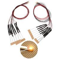 가벼운 구슬 10pcs 20cm T0603WM 사전 납땜 된 마이크로 0.1mm 구리 유선 화이트 SMD LED 0603